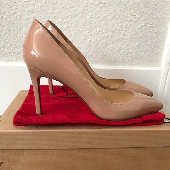 check out ec817 3cfdb Christian Louboutin Pigalle 85mm nude patent